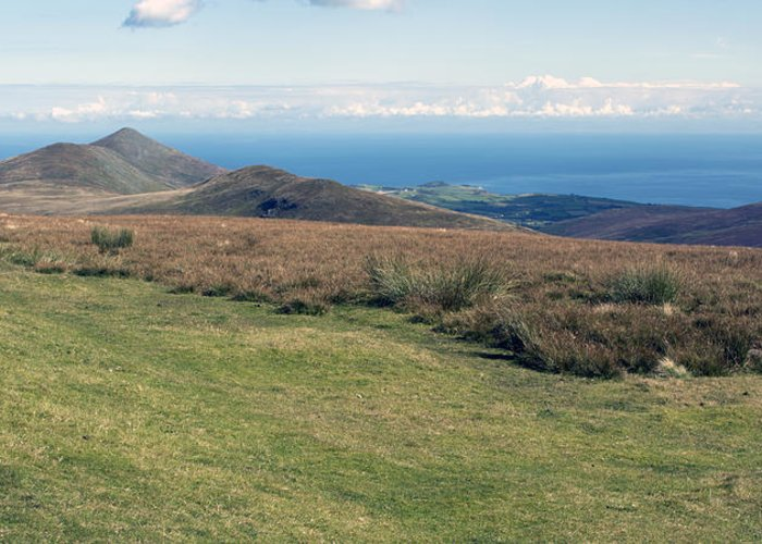 Mountains Greeting Card featuring the photograph North Barrule And Maughold Head by Steve Watson