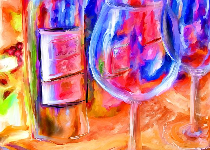 Wine Greeting Card featuring the mixed media North Carolina Wine by Marilyn Sholin