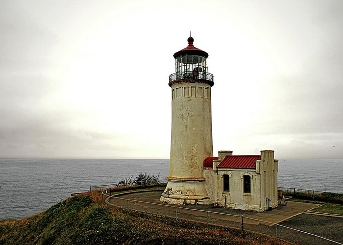 Cape Disappointment Greeting Card featuring the photograph North Head Lighthouse - Graveyard Of The Pacific - Ilwaco Wa by Christine Till