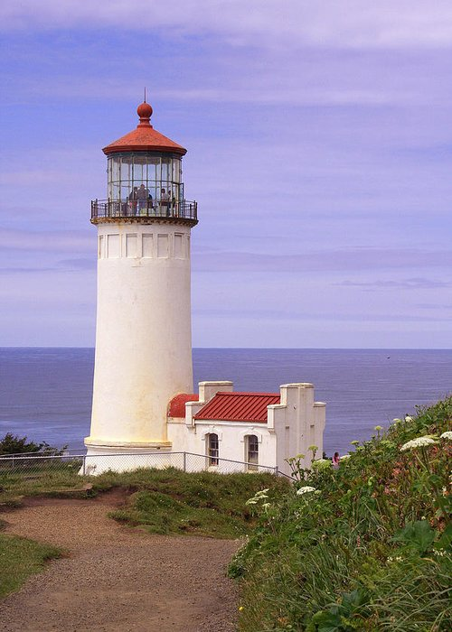 Lighthouse Greeting Card featuring the photograph North Head Lighthouse Li 2000 by Mary Gaines