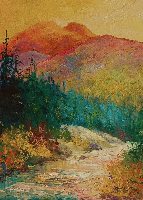 Alaska Greeting Card featuring the painting Northern Essence by Marion Rose
