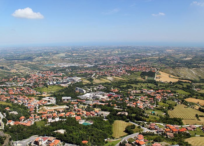 View Greeting Card featuring the photograph Northern Italy From Bird's Flight by Aleksandr Volkov