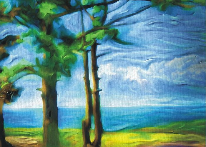Landscape Greeting Card featuring the painting Northern Ontario by Bob Salo