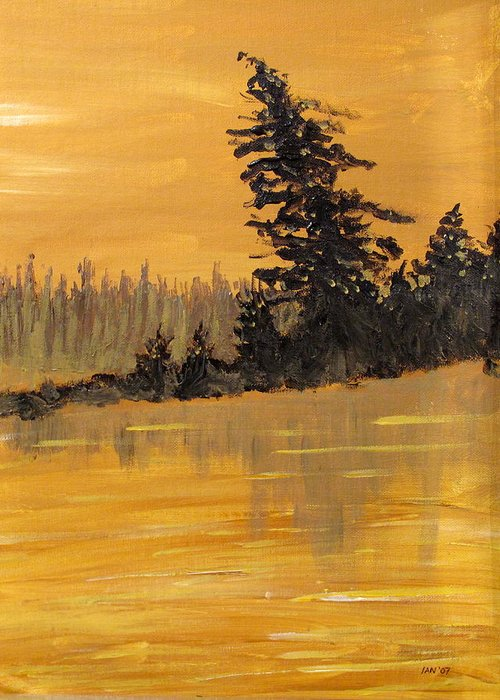 Northern Ontario Greeting Card featuring the painting Northern Ontario Three by Ian MacDonald