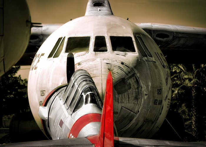 Aircraft Greeting Card featuring the photograph Nose To Nose by Douglas Craig