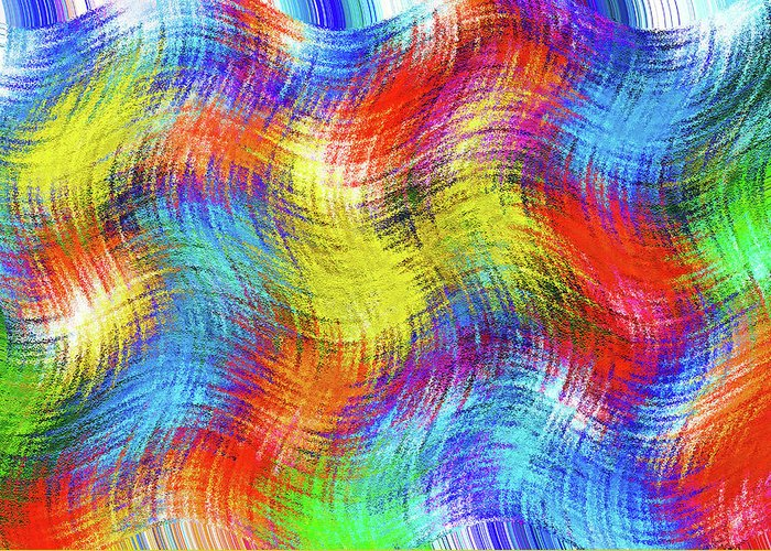 Abstract; Abstraction; Background; Patterns; Woven; Weave; Sewn; Fabric; Tapestry; Textiles Greeting Card featuring the photograph Nostalgic Marbles 6 - Woven Waves by Steve Ohlsen