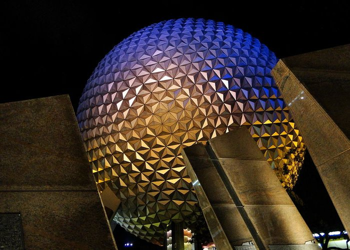 Epcot Greeting Card featuring the photograph Not A Golf Ball by Joetta West