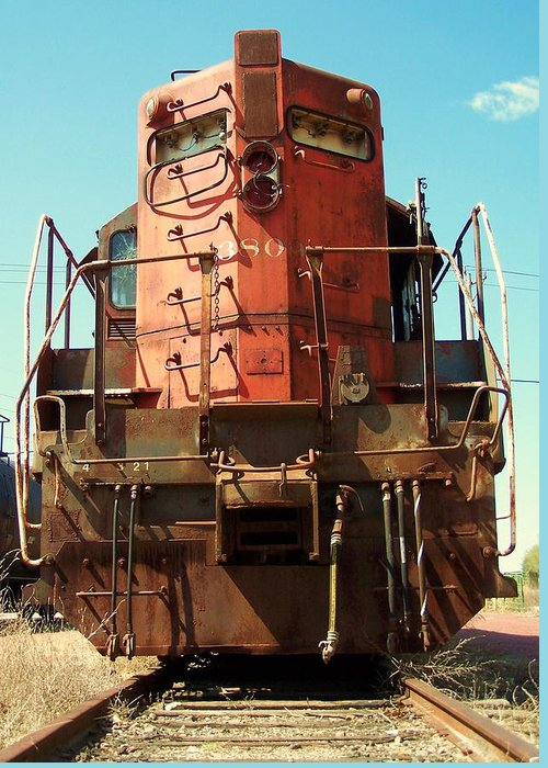 Trains Greeting Card featuring the photograph Not Ready To Retire by Joseph Norvell
