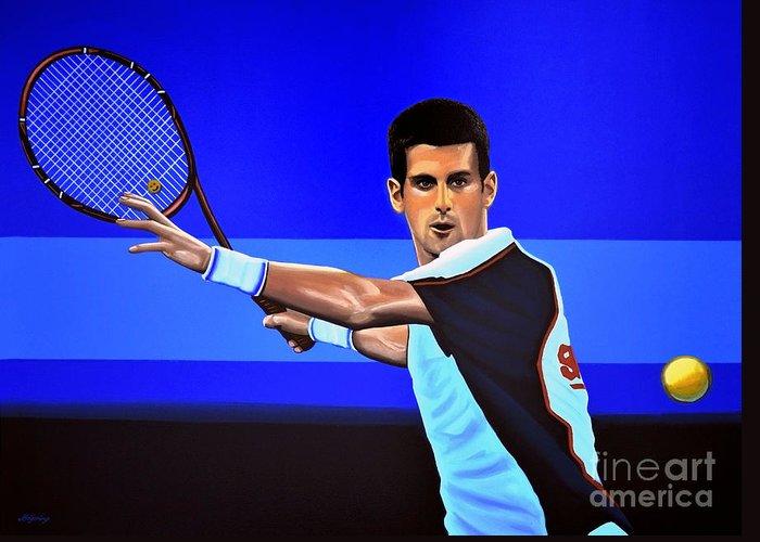 Novak Djokovic Greeting Cards