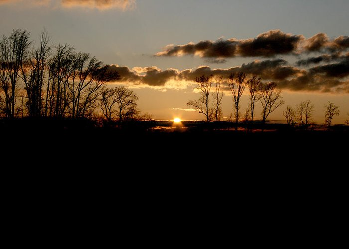 Sunset Greeting Card featuring the photograph November Sky by Alexandra Harrell