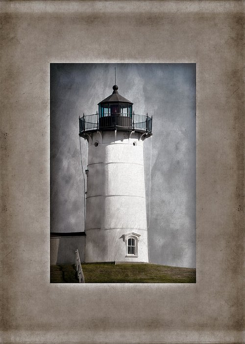 Cape Neddick Greeting Card featuring the photograph Nubble Light Maine by Carol Leigh