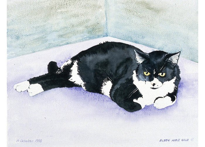 Portrait Greeting Card featuring the painting Nubby by Eileen Hale