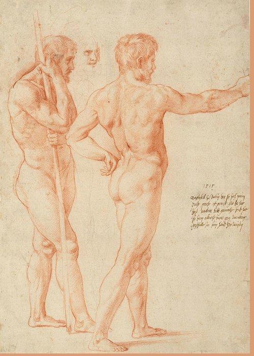 Raphael Drawings Greeting Cards