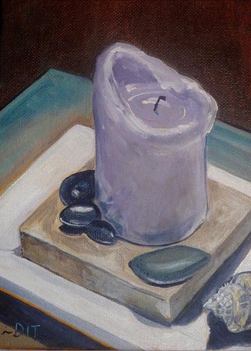 Candle Painting Greeting Card featuring the painting Nurture by Denise Ivey Telep