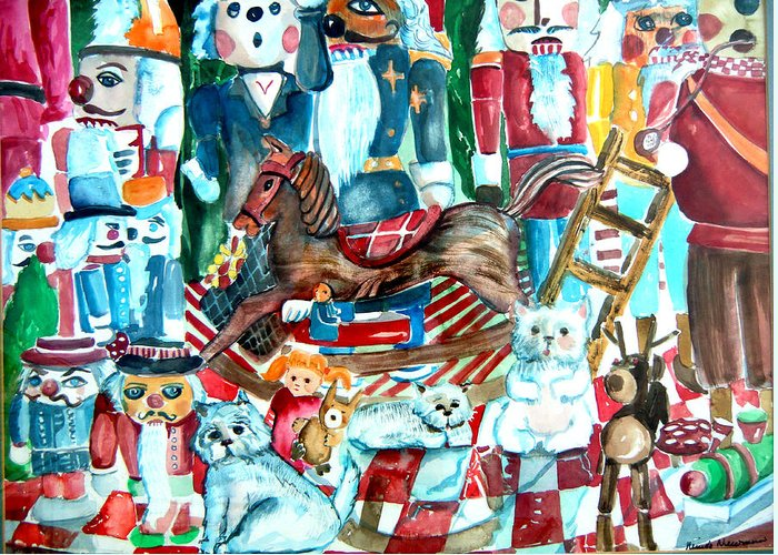 Nutcracker Greeting Card featuring the drawing Nutcracker Suite by Mindy Newman