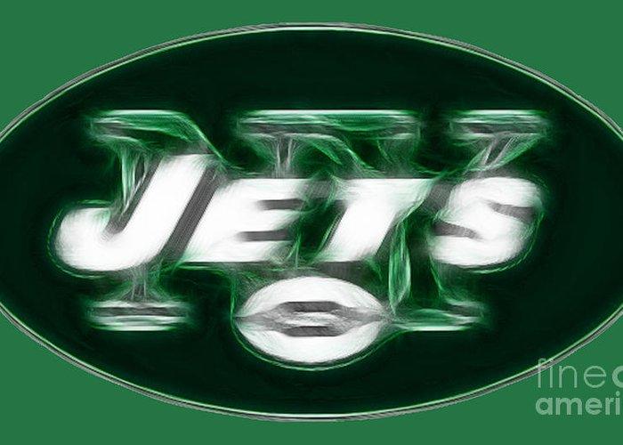 Ny Jets Logo Greeting Card featuring the photograph Ny Jets Fantasy by Paul Ward
