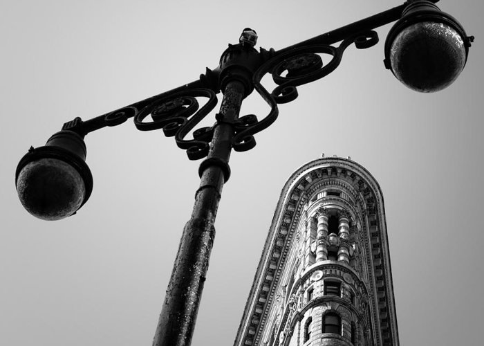 Ny Greeting Card featuring the photograph Nyc Flat Iron by Nina Papiorek