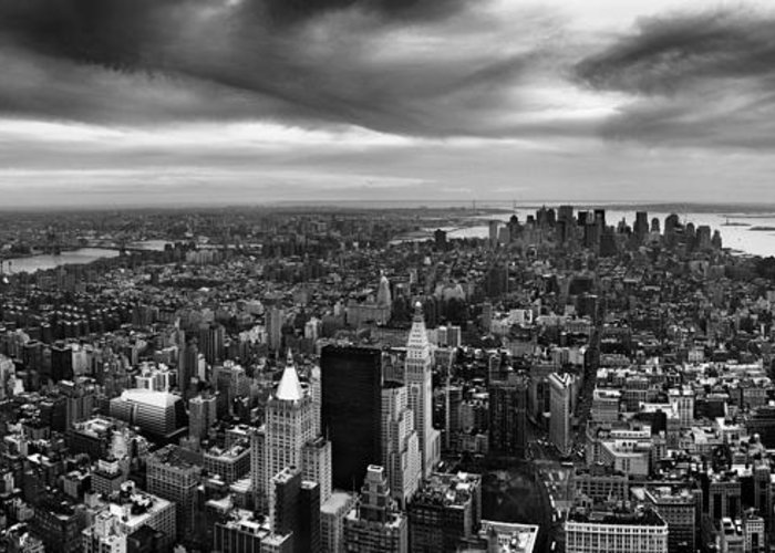 Nyc Greeting Card featuring the photograph Nyc Manhattan Panorama by Nina Papiorek