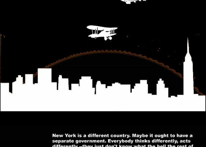 New York Greeting Card featuring the photograph Nyc Night Poster by Naxart Studio