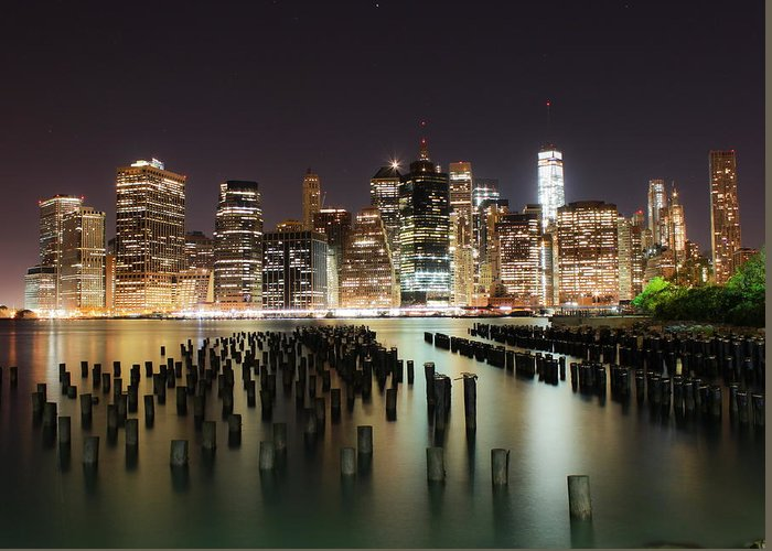 Nyc Greeting Card featuring the photograph Nyc Silence by Dmitriy Laria