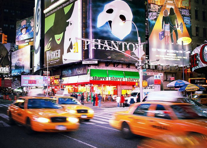 New Greeting Card featuring the photograph Nyc Taxi Taxi by Nina Papiorek