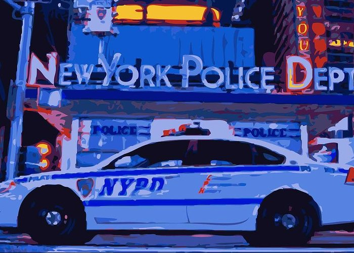 Nypd Greeting Card featuring the photograph Nypd Color 16 by Scott Kelley