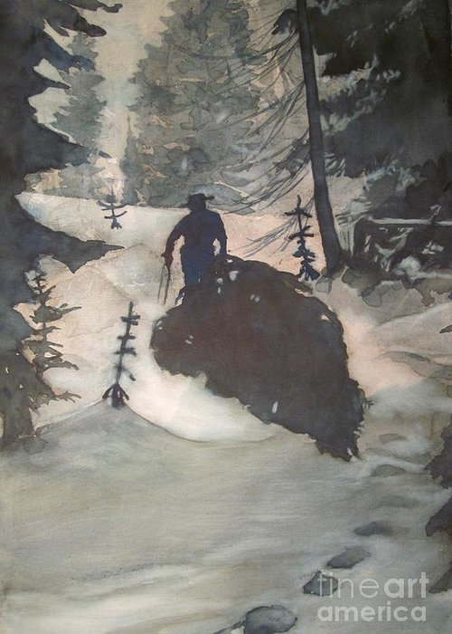 Christmas Greeting Card featuring the painting O Tannenbaum by Elizabeth Carr