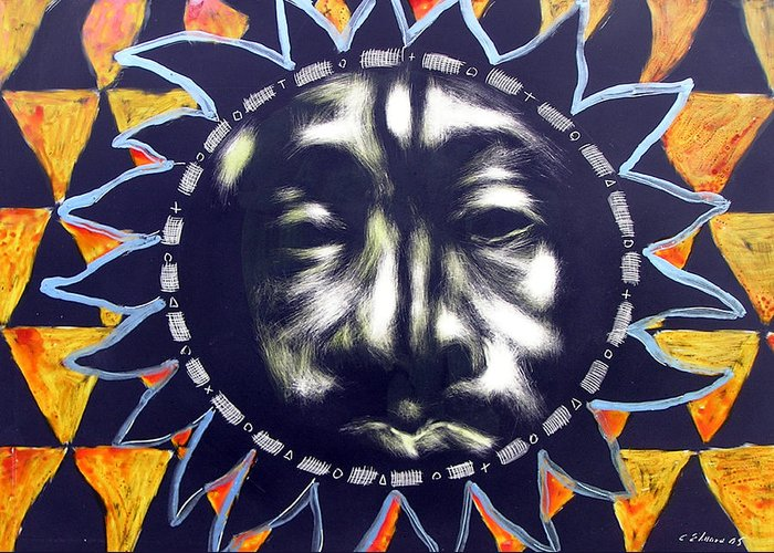 Greeting Card featuring the mixed media Oakland Sunshine by Chester Elmore