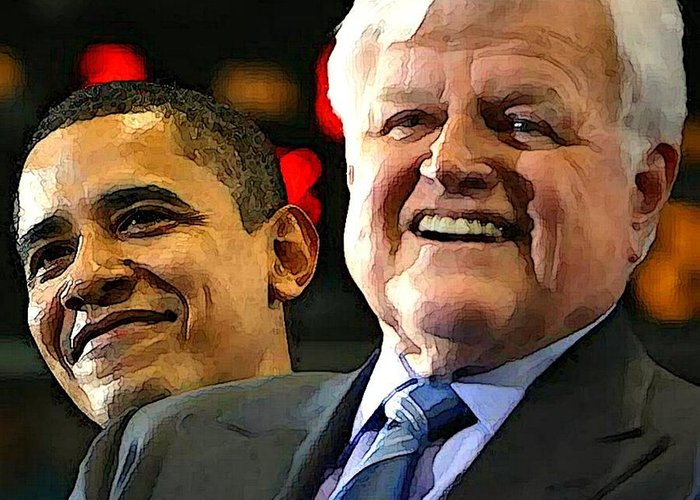 Kennedy Greeting Card featuring the photograph Obama And Kennedy by Gabe Art Inc
