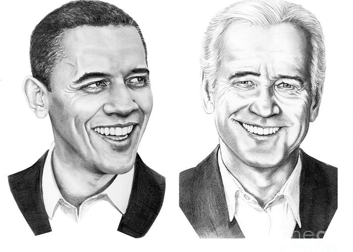 Obama Drawings Drawings Greeting Cards