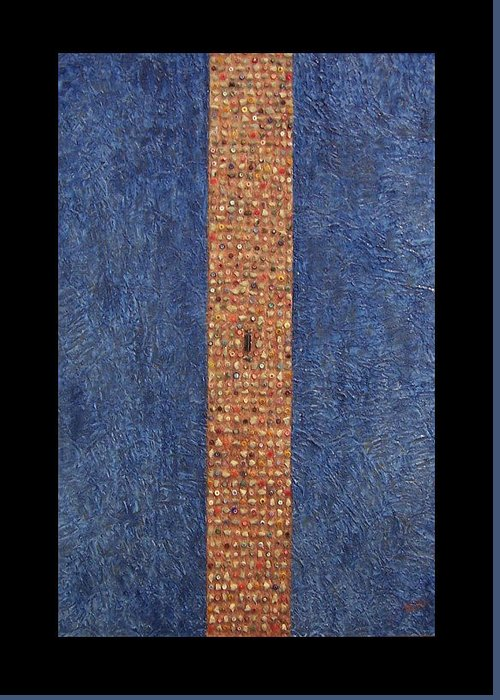 Berlin Wall Greeting Card featuring the painting Obelisk by Anneliese Fritts
