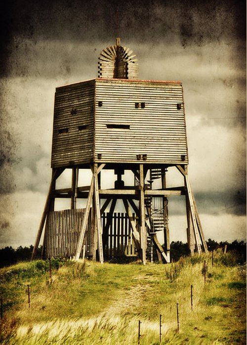 Wadden Sea National Park Greeting Card featuring the photograph Observation Tower by Angela Doelling AD DESIGN Photo and PhotoArt