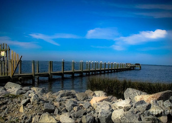 Obx Greeting Card featuring the photograph Obx Pier by Valerie Morrison