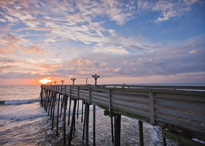 Atlantic Greeting Card featuring the photograph Obx Sunrise by Adam Romanowicz