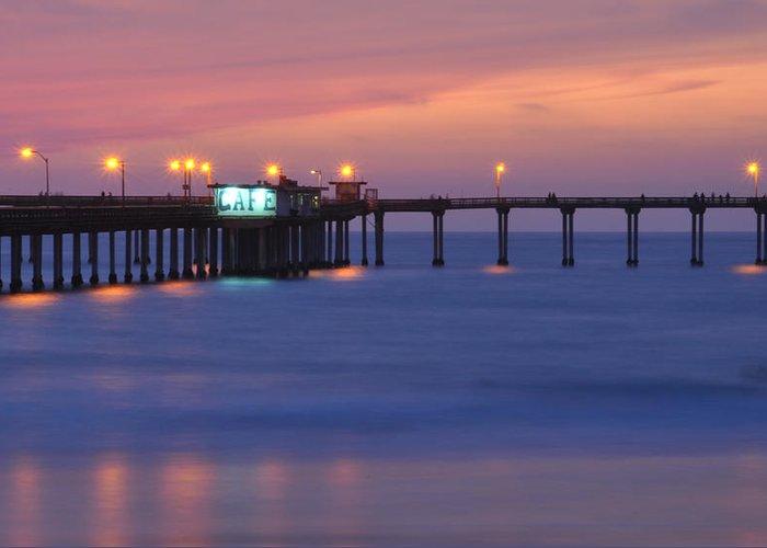 Ocean Beach Pier Greeting Card featuring the photograph Ocean Beach Pier by Kelly Wade