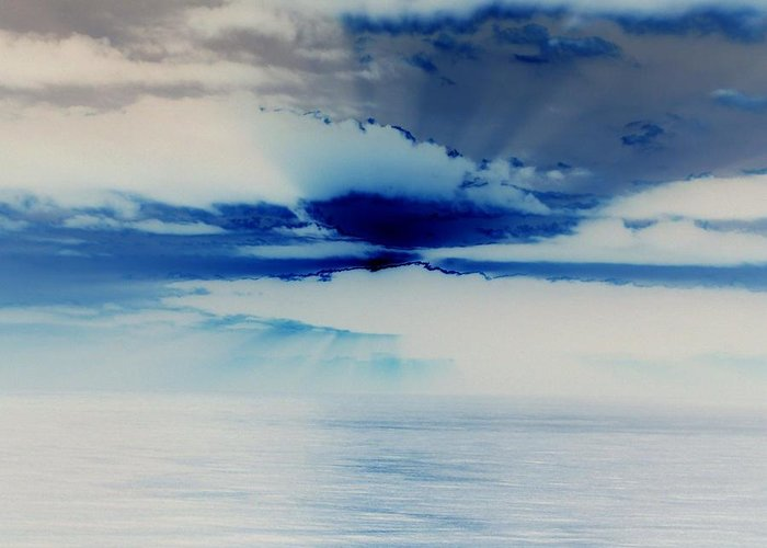 Seascapes Greeting Card featuring the photograph Ocean Blue Monday by James Harper