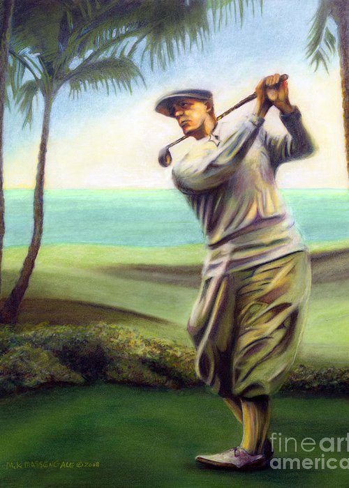 Golf Art Greeting Card featuring the painting Ocean Drives by Mike Massengale