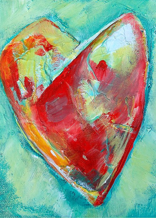 Heart Greeting Card featuring the painting Ocean Heart by Racquel Morgan