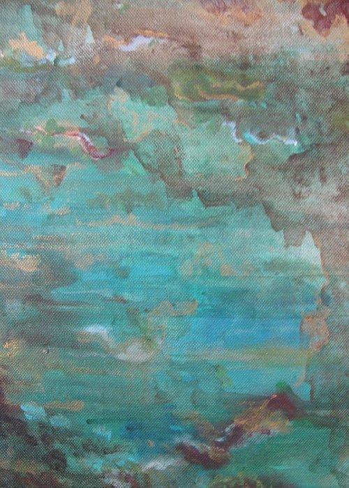 Ocean Greeting Card featuring the painting Ocean by Lindie Racz