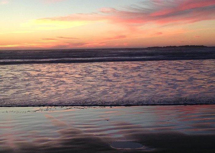 Ocean Greeting Card featuring the photograph Ocean sunset by Shari Chavira