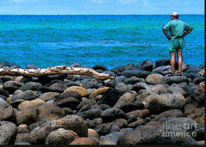 Hawaii Greeting Card featuring the photograph Ocean Watch by James Temple
