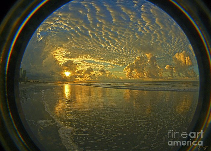 Sunrise Greeting Card featuring the photograph Oceanview by Jeff Breiman