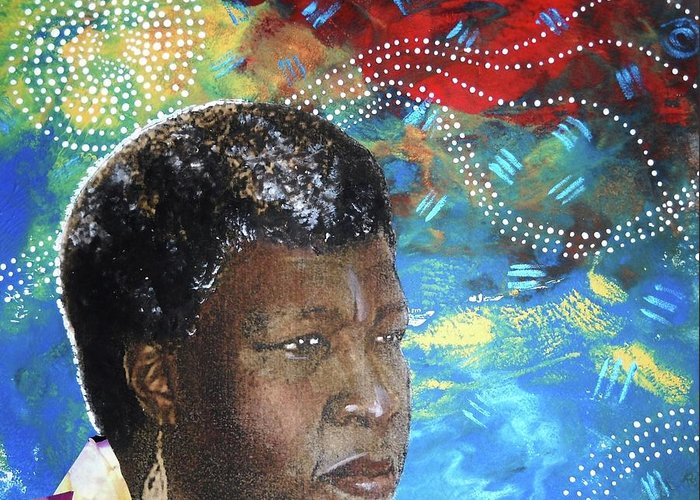 Octavia Butler Greeting Card featuring the tapestry - textile Octaviascape by Candace Hunter
