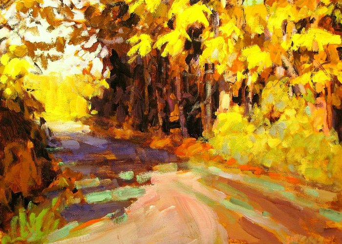 Fall Paintings Greeting Card featuring the painting October by Brian Simons