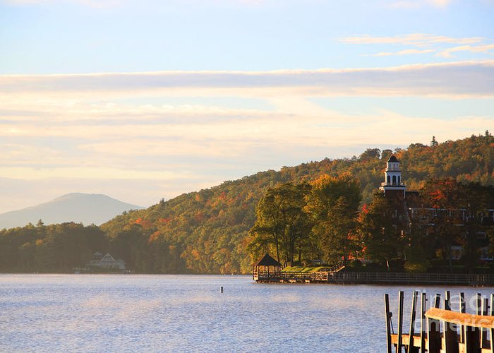 Church Landing Greeting Card featuring the photograph October Landing by Michael Mooney