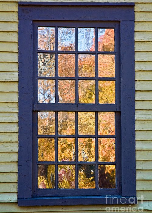 Colonial Greeting Card featuring the photograph October Reflections 1 by Edward Sobuta