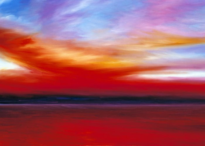 Clouds Greeting Card featuring the painting October Sky by James Christopher Hill