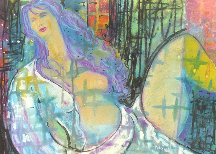 Painting Greeting Card featuring the painting Odalisque by Todd Peterson