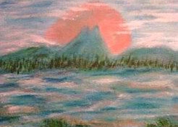 Water Greeting Card featuring the painting Ode To Mario by Betty Abrams