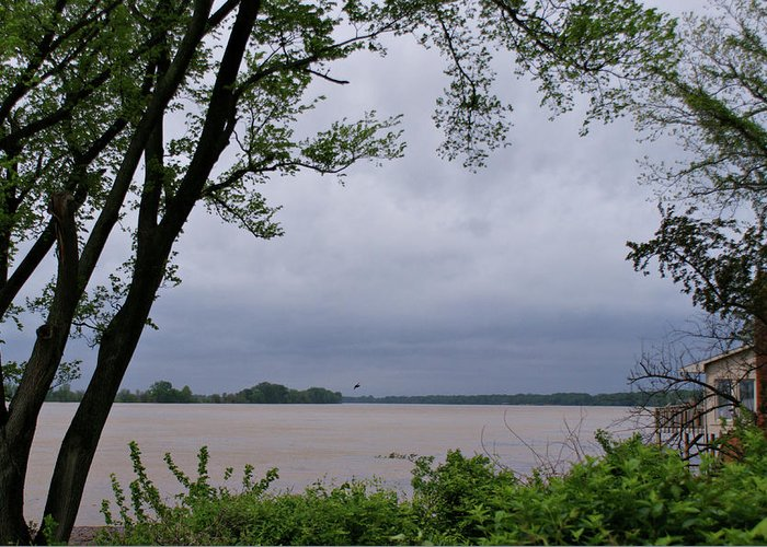 Ohio River Greeting Card featuring the photograph Ohio River by Sandy Keeton